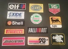 SET OF 12 MOTOR RACING MOTOR SPORT GOODWOOD SEW / IRON ON PATCHES:- SELECTION E