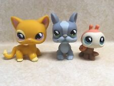 Littlest Pet Shop LPS #855 Cat #856 Ladybug #857 Dog Preowned