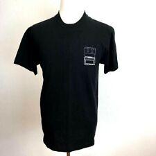 Zamboni Mens T-Shirt Black Crew Neck 100% Cotton Tee S