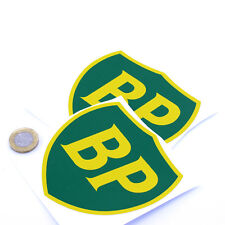 BP OIL 89 On Shield Classic Car STICKERS 100mm x2 Sports Racing decals Petrol