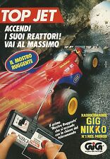 X4226 Top Jet - GIG NIKKO - Pubblicità 1991 - Advertising