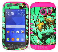 For Samsung Galaxy Ace Style S765c KoolKase Hybrid Cover Case - Camo Mossy Green