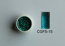 UV LED Premium Farbgel ohne Schwitzschicht Glitter Green Gel 15