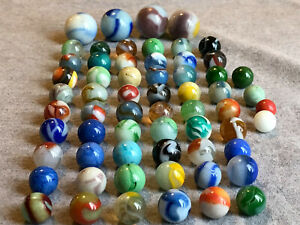 Lot Vintage & Antique Glass Marbles & Shooters