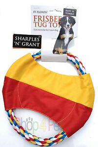 """FRISBEE DOG TUG TOY, """" IT FLOATS ON WATER """"Great Fun & Exercise for your Dog"""