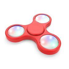 Orange LED Light Fidget Tri-Spinner Focus Toys ABS Finger Ball For Kids/Adult SC
