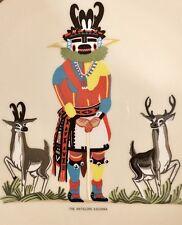 Vintage 1974 Hopi Kachina collectible plate: The Antelope
