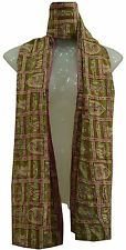 REVERSIBLE CLASSICAL PURE SILK HANDMADE KANTHA BEST STOLE SHAWL HIJAB SCARF