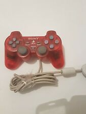 Mando controller ps One para PlayStation 1 original sony rojo transparente