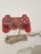 Mando controller ps One para PlayStation 1 original sony rojo transparente
