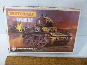 Matchbox 1/76 Stuart M3/A1 'Honey'  Tank model kit .Matchbox PK-84 -WW2 Tank  (6
