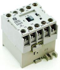 GE Miniature Din Rail Magnetic Contactor CR6ZBN3B 125VDC Coil CA4-9C-01-125D 1NC