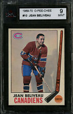 1969-70 O-PEE-CHEE HOCKEY~#10~JEAN BELIVEAU~HOF~MONTREAL CANADIENS~KSA 9 MINT