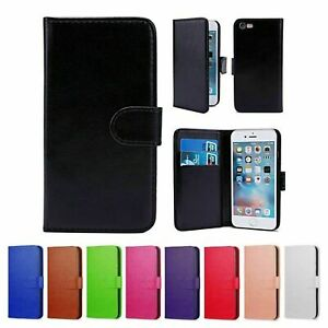 Real Genuine Leather Flip Wallet Case for iPhone 6 6s Plus Cover