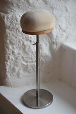 Vintage Hat Display Stand, Adjustable Hat or Wig Stand Steel Industrial Style