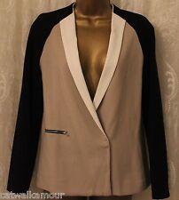 ASOS Colour Block Zip Pocket Casual Relaxed fit Collar Blazer Jacket 8 36