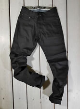 NEW DENHAM MEN'S JEANS W36 L34 GRADE SLIM VBT SLIM FIT BLACK HARD MATERIAL