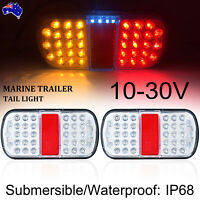 2X Submersible/Waterproof 36 LED Stop Tail Lights Kit Boat Truck Trailer Lamp
