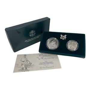1995 Civil War Battlefield Commemorative Coins 1$ SILVER 50 cent Clad w/ COA