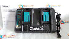 New Makita DC18RD 7.2V - 18V Li-Ion Dual Port Rapid Optimum Charger w/ USB Port