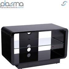Alphason Luna ADLU800-BLK High Gloss Black TV Stand