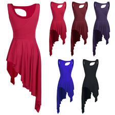 Fashion Women's Dress Samba Rumba Tango Ballet High Low Leotard Gym Dance Dress