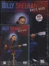 Billy Sheehan Basic Bass Guitar Techniques TAB Music Book/DVD