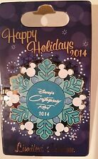 Disney Mickey Mouse Happy Holidays Contemporary Resort Snowflake Hinged Pin Le