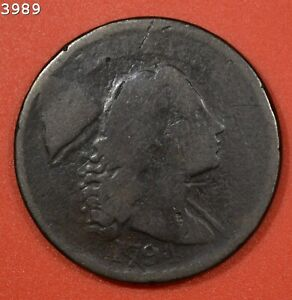 """1794 """"Head of 95"""" Liberty Cap (Right) Large Cent """"Good"""""""