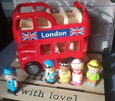Jouet Bus Imperial Londen Rouge sonore 5 Personnages Early Learning Centre