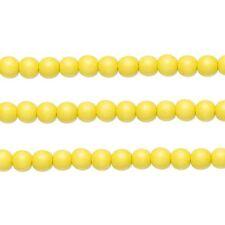 Wood Round Beads Yellow 10mm 16 Inch Strand