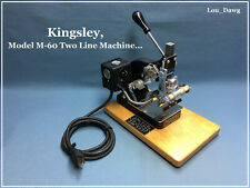 Kingsley Machine (  M-60 Two-Line Machine  ) Hot Foil Stamping Machine