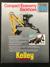 Kelly Backhoes B10 Series Farm Equipment Agricultural Advertising Brochure