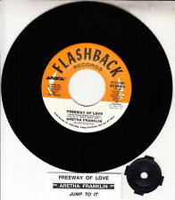 """ARETHA FRANKLIN  Freeway Of Love & Jump To It 7"""" 45 record NEW + juke box strip"""