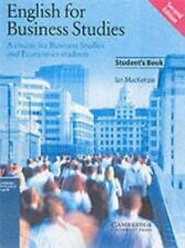 English for Business Studies Student's book: A Course for Business Studies and E