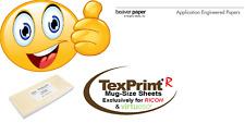 TexPrint-R 120 g/qm, Sublimationspapier für Tassen, Format 100 x 240 mm.