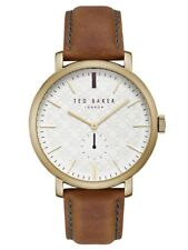 Ted Baker TE15193006 Armbanduhr Herren Dornschließe Leder Edelstahl Mineralglas