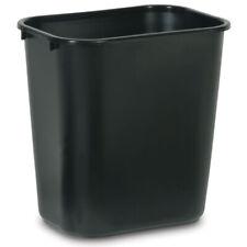 Newell-Rubbermaid 28 qt. Black Medium Commercial Wastebasket