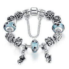 European Murano Glass Charms Bracelets With Cute Animal Dangle For Women Fashion