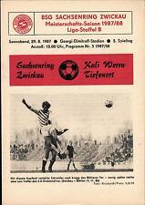 DDR-Liga 87/88 ZEPA Sajonia anillo Zwickau-Kali Werra Tiefenort, 29.08.1987