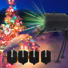 LED Xmas Projector Lights Landscape Lamp Moving  Stage Light Christmas Decor