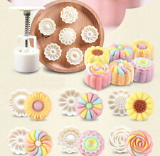 5 Style Stamps 50g Round Flower Moon Mold Mould White Moon cake Decor 3D DIY JS
