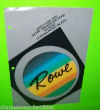 ROWE VINTAGE JUKEBOX PHONOGRAPH MUSIC ACCESSORY DEVICE SALES FLYER