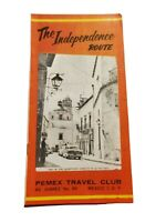 1959 Independence Route Mexico Pemex Travel Club Brochure Vtg Native American