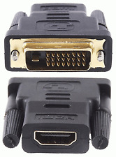 New Gold Plated Male DVI to Female HDMI Adapter Converter Connector #291