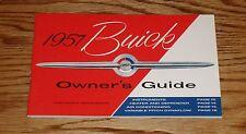 1957 Buick Owners Operators Guide Manual 57