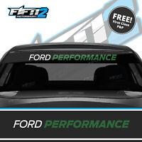 Ford Performance Fiesta Sunstrip ST Zetec S RS Sun Strip Decal FREE P&P Green 01