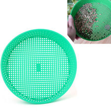 Green Plastic Garden Sieve Riddle For Composy Soil Stone Mesh Gardening Tool