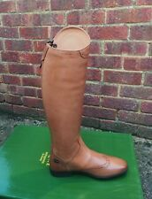 HM Equipe Riding Boots Vega Adults LEATHER Boots UK 7 STD CALF TAN RRP £229