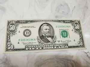 1969 C $50.00 Dollar Federal Reserve Note Crisp UNC